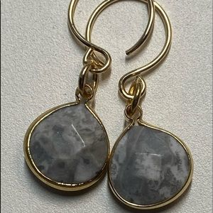 New: Agate Gemstone Teardrop Briolette Earrings